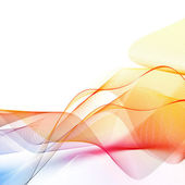 Abstract iridescent wawe — Stock Photo
