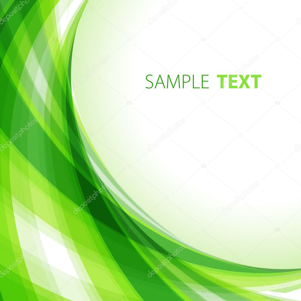Green abstract background with copy space — Stock Vector #1292463