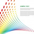 Royalty-Free Stock Imagen vectorial: Template from spectral elements