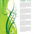 Floral green template — Stock Vector #1309484