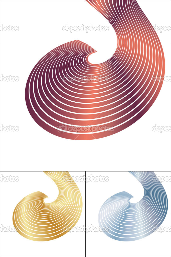 Abstract spiral elements. Vector — Stock Vector #1301771