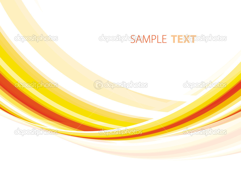 Abstract orange summery stripes. Vector — Stock Vector #1342477