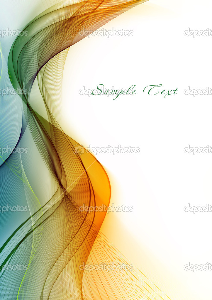 Abstract template with color wawe  Stock Photo #1351214