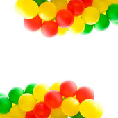 Multi-coloured balloons — Stock Photo