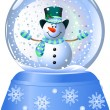 Snowman in Snow Globe — Stock Vector #1123635
