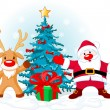 Royalty-Free Stock Imagen vectorial: Santa Claus and Rudolph