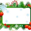 Christmas frame — Stockvektor