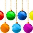 Christmas colour balls — Stok Vektör