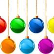 bolas de Natal cor — Vetorial Stock