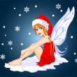 Royalty-Free Stock Imagem Vetorial: Christmas fairy