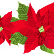 Christmas decoration poinsettia — Stock Vector