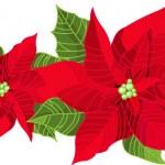 Christmas decoration poinsettia — Stock Vector #1139897