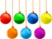 Christmas colour balls — Stock Vector