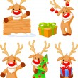 Royalty-Free Stock Vector Image: Reindeer Rudolph