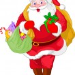 Royalty-Free Stock Vector Image: Walking  Santa Claus