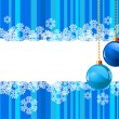 Christmas Background with snowflake — Imagens vectoriais em stock