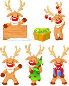 Reindeer Rudolph — Stock Vector