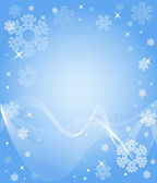 Blue Snowflake Background — Stock Vector