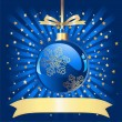 Royalty-Free Stock Vector Image: Blue Christmas Ball