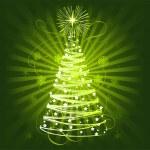 julgranen — Stockvektor