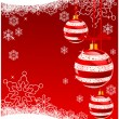 Christmas Background with balls — Vector de stock
