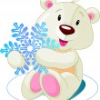 Royalty-Free Stock Vector Image: Bear_snow