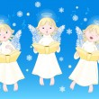 Christmas carols - Imagens vectoriais em stock
