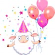 Royalty-Free Stock Vector Image: Birthday sheep