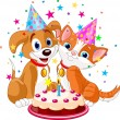 Royalty-Free Stock Imagen vectorial: Cat and dog birthda