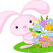 Royalty-Free Stock Vector Image: Bunny Pink