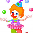 Royalty-Free Stock Vectorielle: Clown a