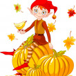 Pumpkin elf — Stock Vector #1158037