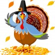 Thanksgiving kalkoen — Stockvector