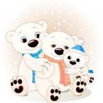 Kutup ayısı aile — Stok Vektör