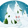 Royalty-Free Stock Vector Image: Winter forest