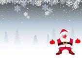 Santa Christmas Background — Stock Vector