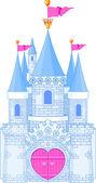 Romántico castillo — Vector de stock