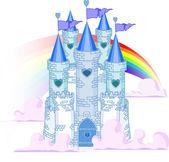Rainbow Castle — Stock Vector