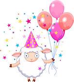 Birthday sheep — Stock Vector