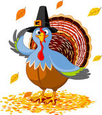 Thanksgiving Turkey — Vector de stock