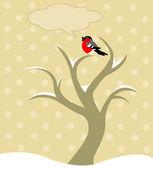 Winter tree — Stock Vector