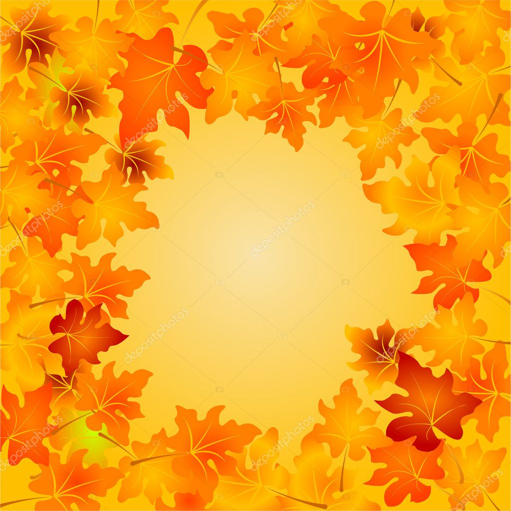 Autumn Leaves vector background with copy space — Stock Vector #1158006