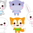 Royalty-Free Stock Vector Image: Cute animal set 03