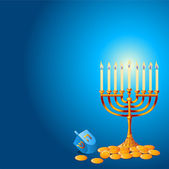 Hanukkah Background — Stock Vector