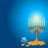 Hanukkah Background — Stock Vector