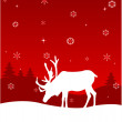 Winter deer — Stock Vector