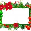 Christmas frame — Stockvectorbeeld