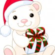 Christmas Teddy Bear — Stock Vector