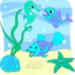 Sea world - Stock Vector