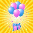 Royalty-Free Stock Vektorfiler: Balloons gift